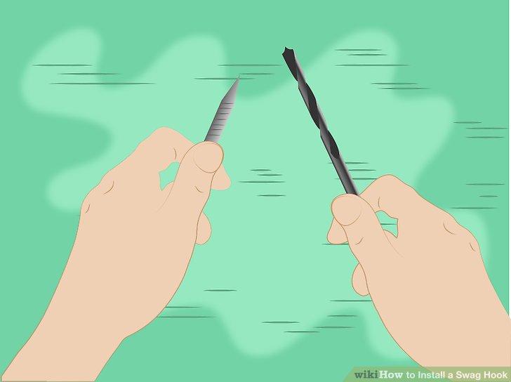 Wählen Sie einen Bohrer, der so klein ist, dass das resultierende Loch kleiner als die Dicke des spitzen Endeeinsatzes ist.