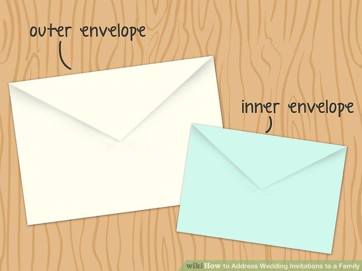 Image Led Address Wedding Invitations To A Family Step 1