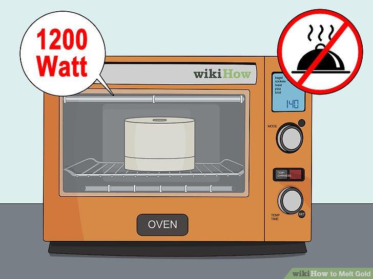 Versuchen Sie, Gold in einer 1200-Watt-Mikrowelle zu schmelzen.