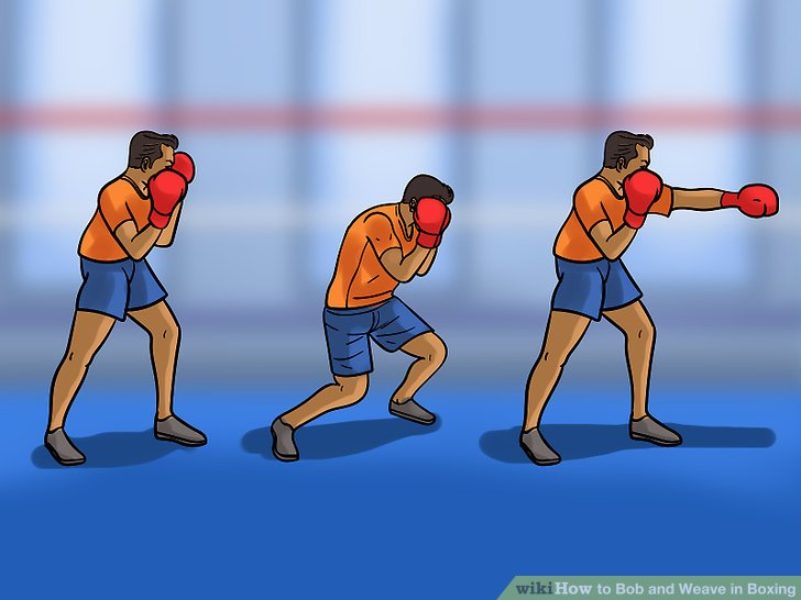 Incorporate bobbing and weaving into your shadow boxing.