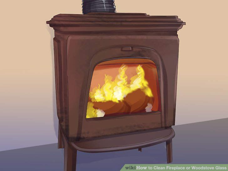 How to Clean Fireplace or Woodstove Glass 15 Steps