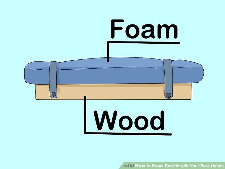 Umwickeln Sie Bretter mit Schaumstoff oder Leinwand, um Ihre Hände zu konditionieren.
