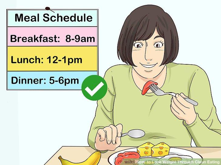 Nehmen Sie täglich drei Mahlzeiten zu sich, vorzugsweise täglich zur gleichen Zeit.