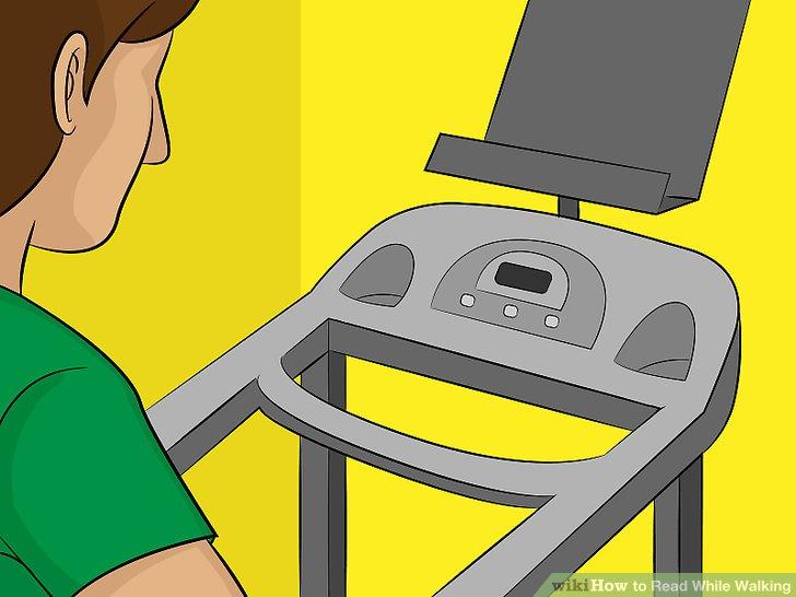 Installieren Sie ein Lesegestell auf Ihrem Heimtrainer, wenn Sie es verwenden möchten.