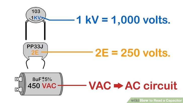 How To Read A Capacitor 13 Steps With Pictures Wikihow