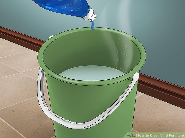 Mischen Sie warmes Wasser und Seife.
