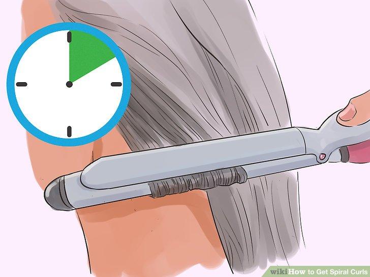 Kıvırıcıyı tutamak yerinde olacak şekilde en az on saniye tutun.