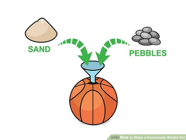Machen Sie einen gewichteten Medizinball aus einem Basketball.