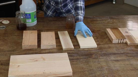 Vinegar And Steel Wool On Pine