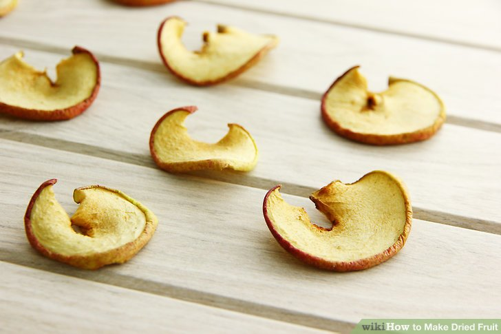 Remove from oven when fruit is sufficiently dehydrated.