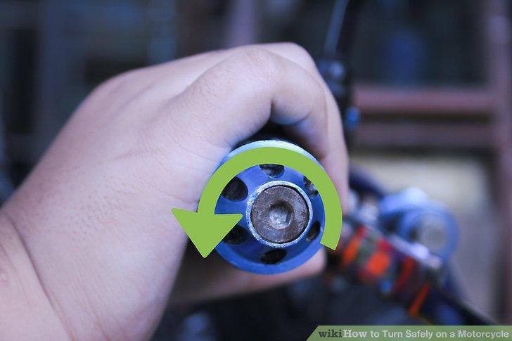Erhöhen Sie den Gashebel um die Hälfte oder das letzte Drittel der Kurve.