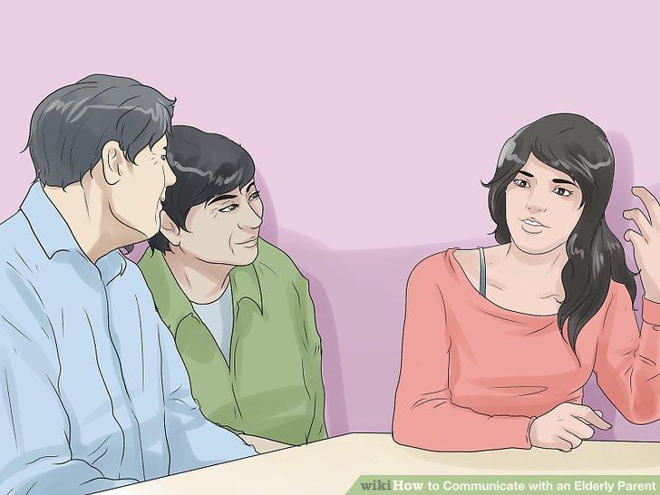Machen Sie sich klar, wenn Sie Ihren Eltern etwas erklären.