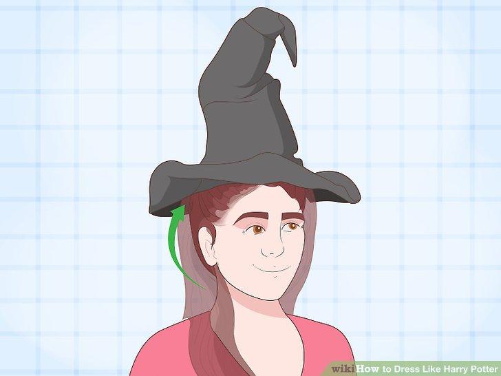 Lange Haare unter einem Hut verstecken.
