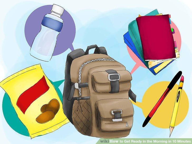 Ertesi gün gereken tüm eşyaları el çantanıza, sırt çantanıza ya da kurye çantanıza koyun.
