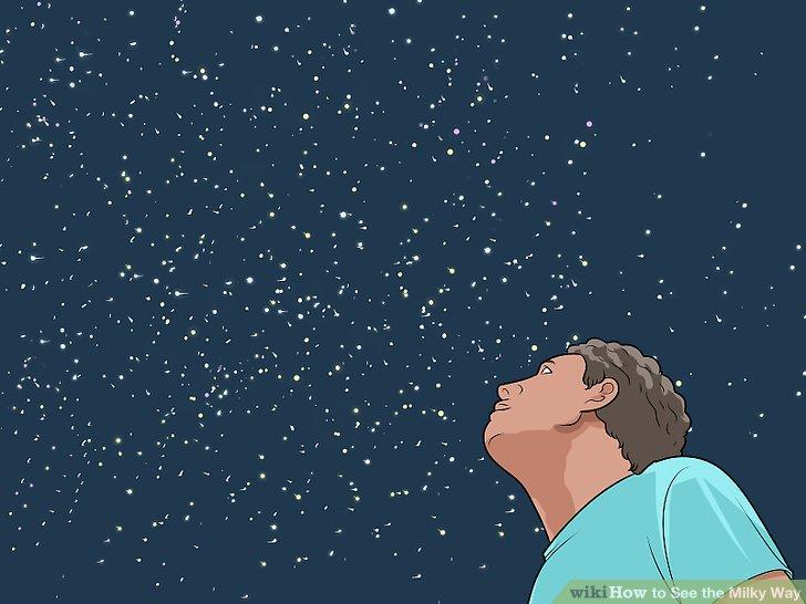 Konzentrieren Sie sich auf den Horizont, um den Kern der Galaxie zu sehen.