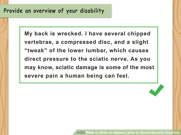 how to how to write an appeal letter to social security disability