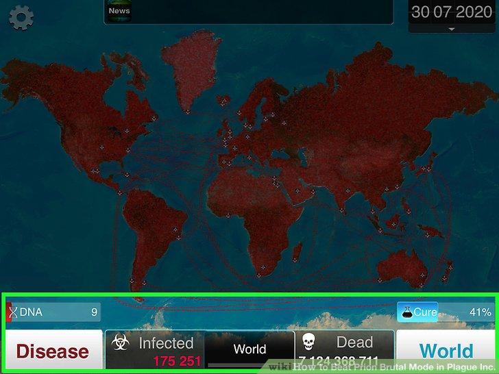Warten Sie, bis die Welt infiziert und getötet ist.