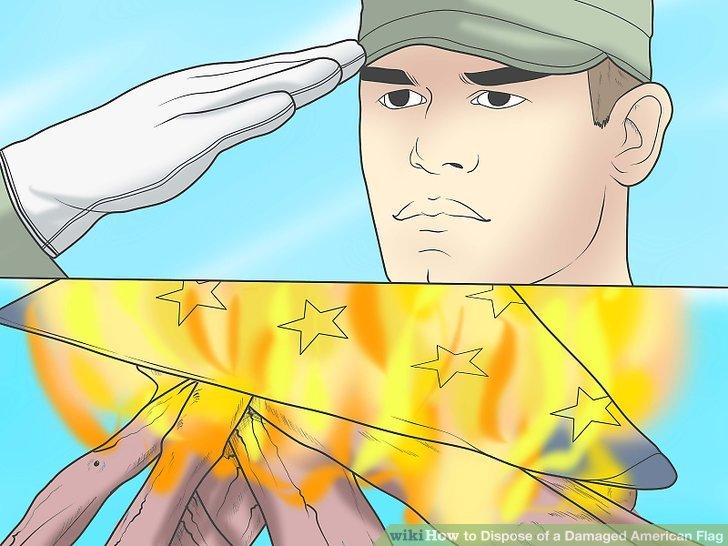 Nehmen Sie sich einen Moment Zeit, um die Flagge zu respektieren.