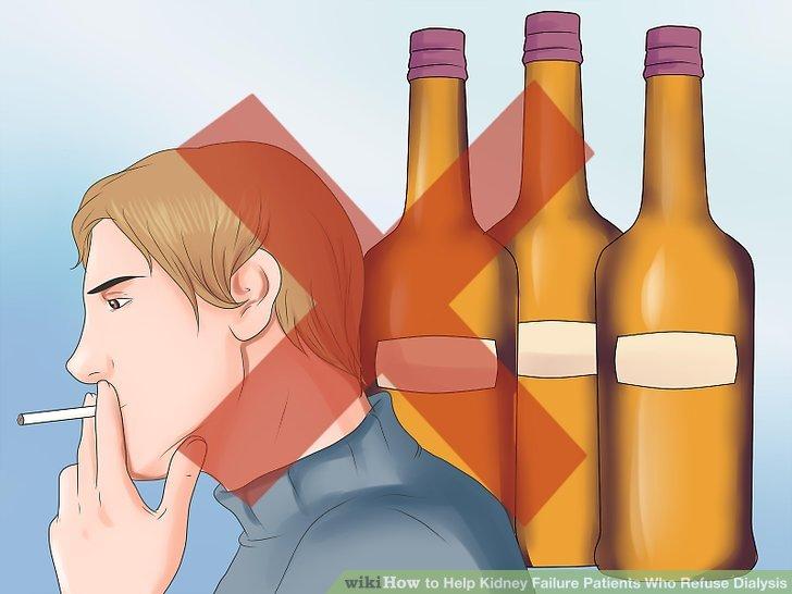 Rauchen aufhören und Alkohol trinken.