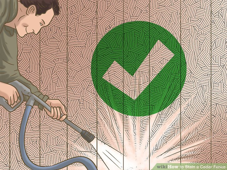 Wash and clean down your fence to remove any dirt and grime.