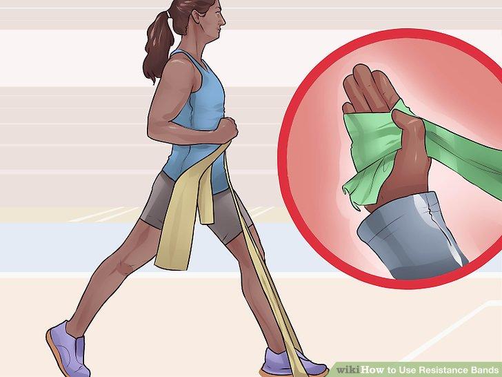 Passen Sie die Position Ihrer Band an, um das Training einfacher oder schwerer zu gestalten.