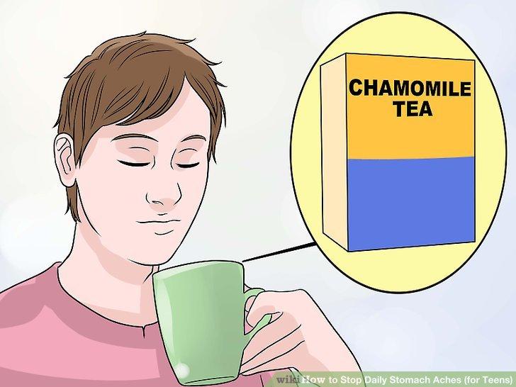 Versuchen Sie, eine Tasse Kräutertee zu trinken.