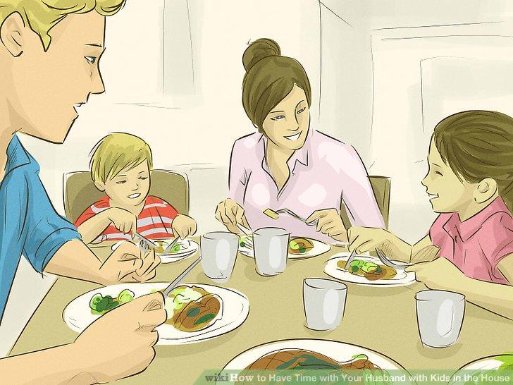 Nehmen Sie mit der ganzen Familie mindestens eine Mahlzeit pro Tag zu sich.