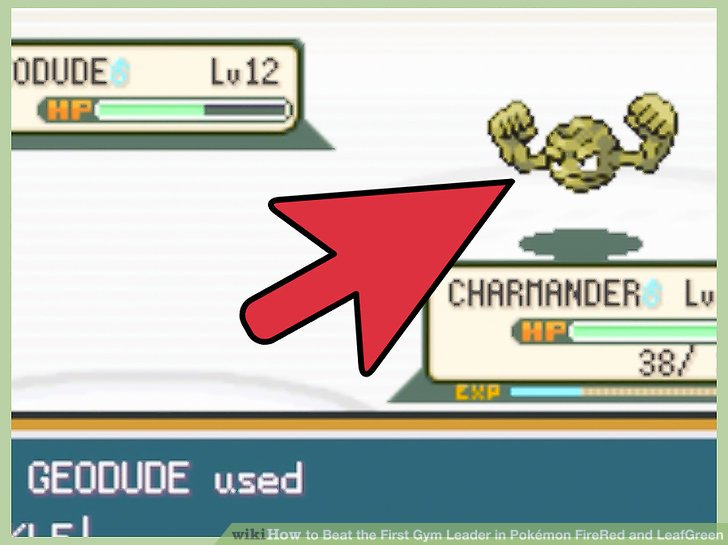 Beginnen Sie mit einem gegen Rock-Typen starken Pokémon.