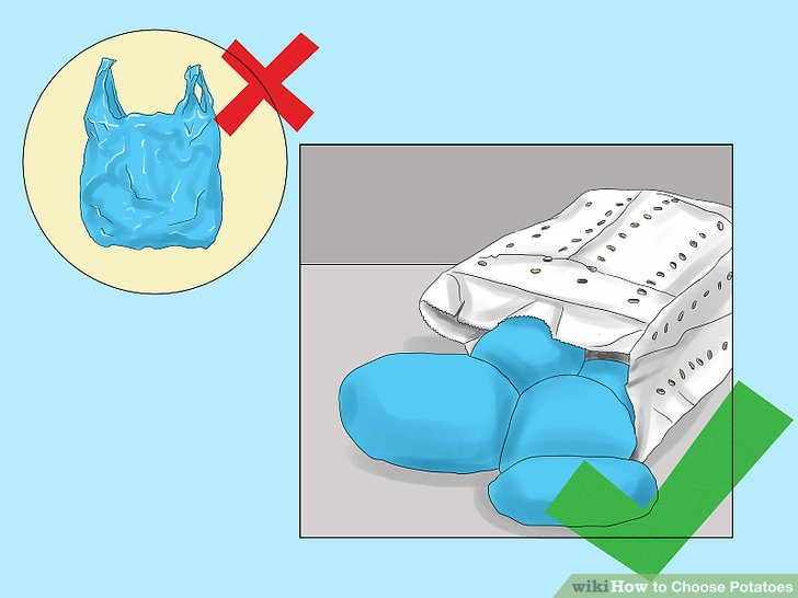 Übertragen Sie die Kartoffeln zur Aufbewahrung in eine Papiertüte.