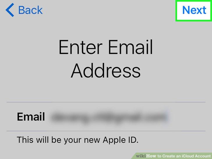 Geben Sie eine aktuelle E-Mail-Adresse ein oder erstellen Sie eine neue E-Mail-Adresse.