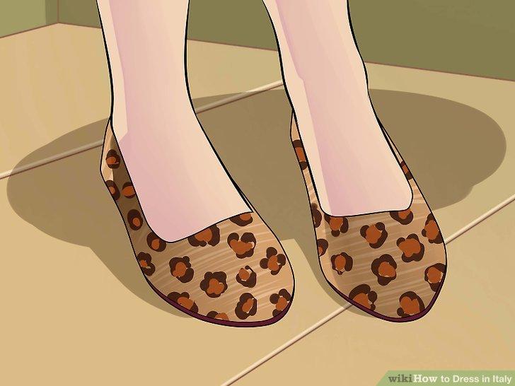Trage schöne Schuhe.
