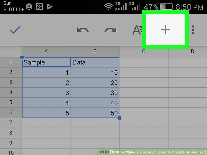 How to Make a Graph on Google Sheets on Android: 14 Steps
