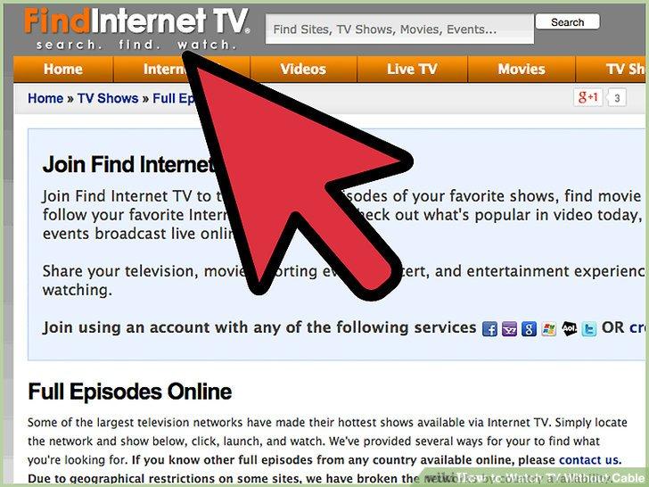 Prüfen Sie, ob Ihre Lieblingssendungen online verfügbar sind.