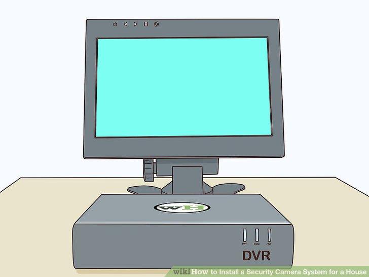Richten Sie ein Aufnahmegerät und einen Monitor ein.