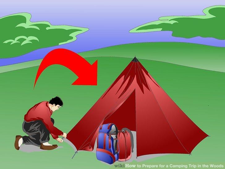 Positionieren Sie Ihr Zelt mit Bedacht.