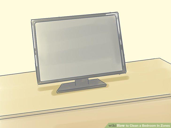 Wenn Sie über einen Fernseher oder eine Stereoanlage verfügen, platzieren Sie sie hier in diesem Bereich, wenn die Anordnung Ihres Zimmers dies zulässt.
