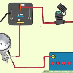 How To Wire A Relay Diagram 4 Way Telecaster Wiring Install Spotlights On Your Vehicle 15 Steps Image Titled Step 9