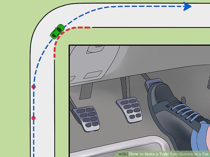 Üben Sie beim Drehen leichten Druck auf das Gaspedal aus.