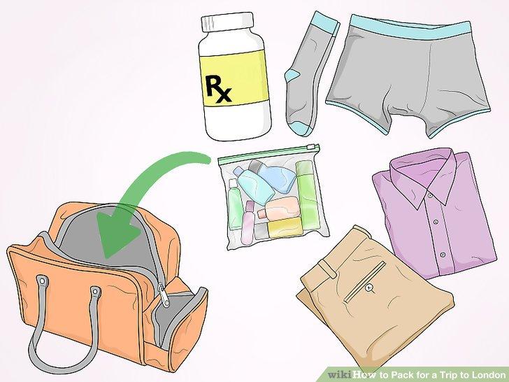 Packen Sie Ihre Handgepäcktasche mit einem kompletten Outfit.