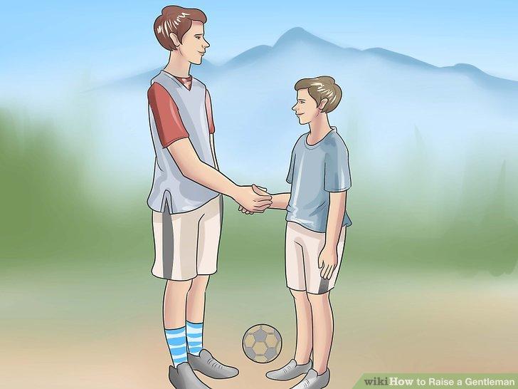 Helfen Sie ihm, ein guter Sport zu sein.