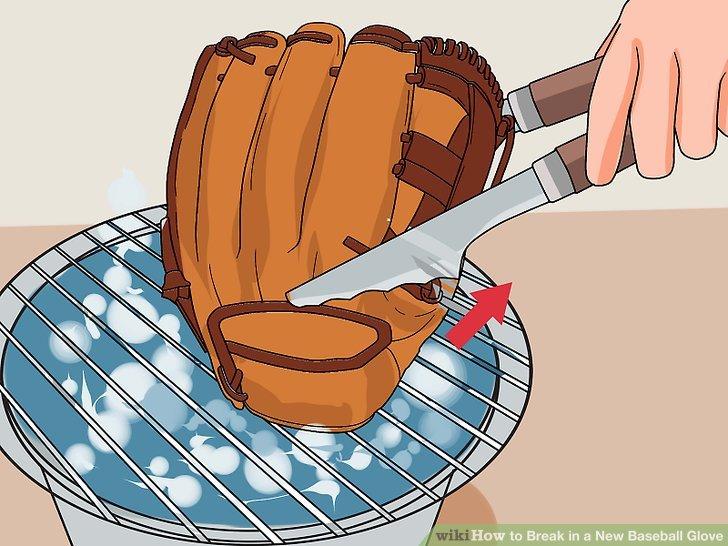 Ziehen Sie den Handschuh aus dem Dampf.
