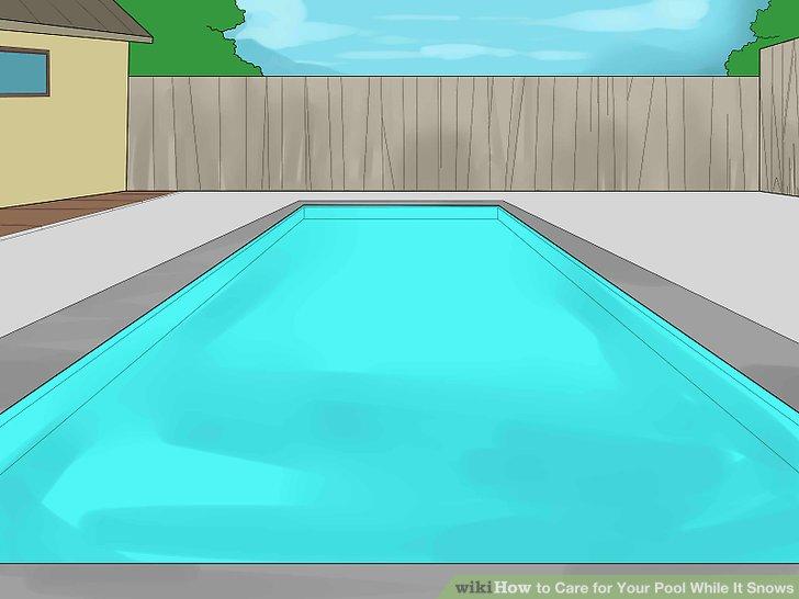 Entfernen Sie alle Zubehörteile für den Pool.