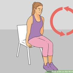 Chair Exercises For Abs Orange Leather 3 Ways To Do An Workout In A Image Titled Step 16