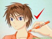 draw manga face male