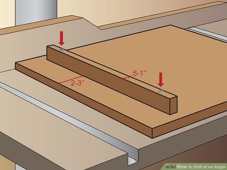 How To Drill At An Angle In Wood