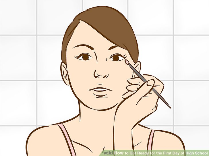Apply makeup if you want, and take care of your face.