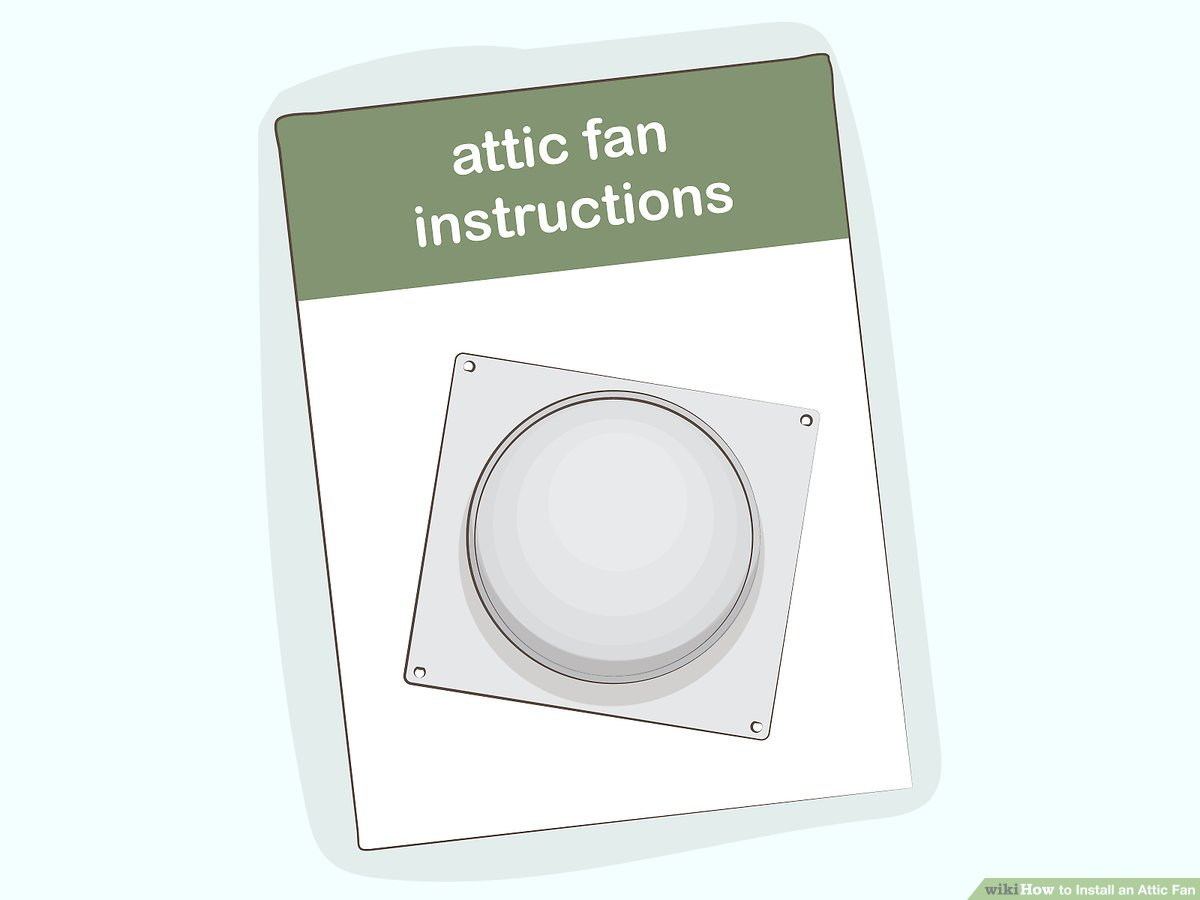 hight resolution of  diagram how to install an attic fan with pictures wikihow attic fan thermostat wiring