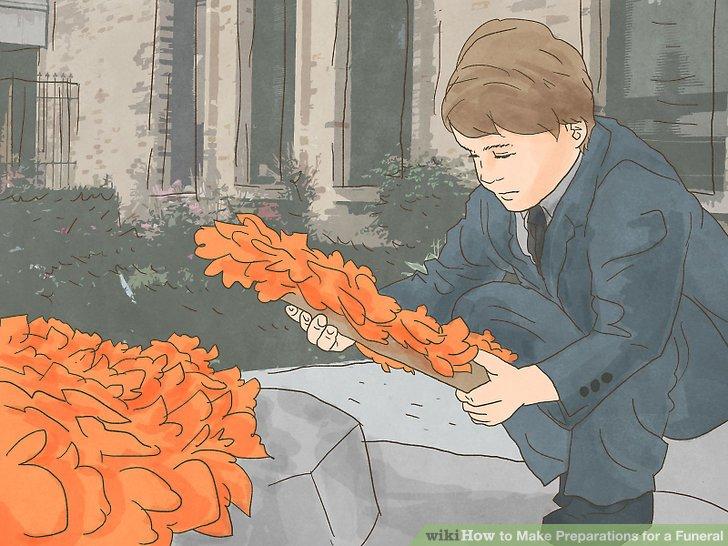 Wählen Sie Blumen für die Beerdigung.