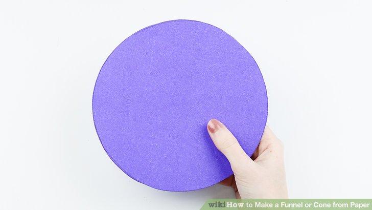 Machen Sie eine Papierscheibe.