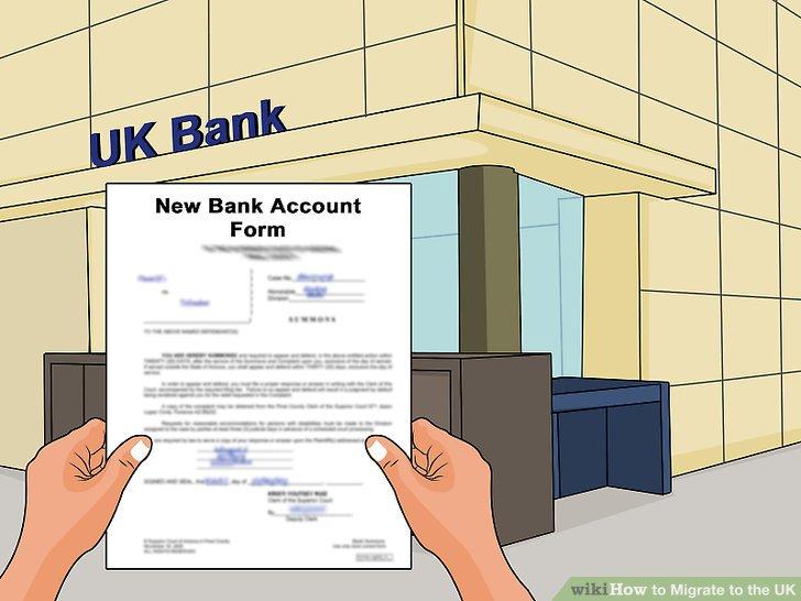 Eröffnen Sie ein Bankkonto bei einer Bank in Großbritannien.